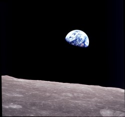 Earth rise from moon. Appolo 8