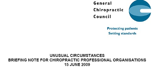 General Chiropractic Council – DC's Improbable Science