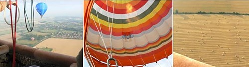 Hot air balloon flight, July 2008