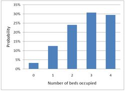Bed occupancy distribution